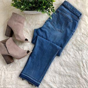 Chaps released hem cropped jeans Kinney wash 12